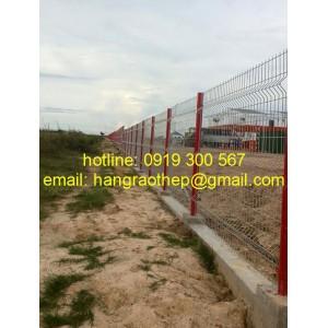 Hàng rào mạ kẽm & sơn tỉnh điện